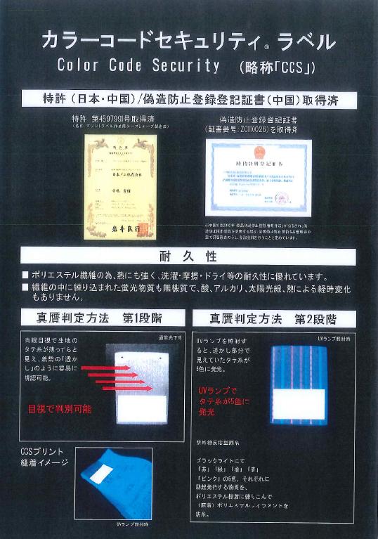 偽造防止ラベルご紹介